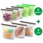 Las 7 mejores bolsas de silicona reutilizables para alimentos