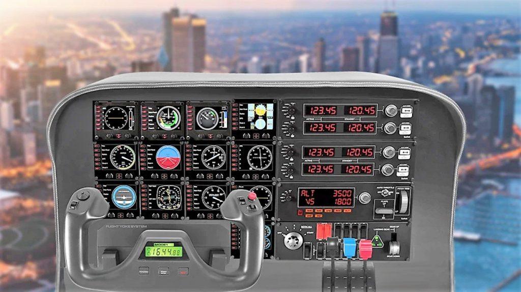 Joystick simulador vuelo